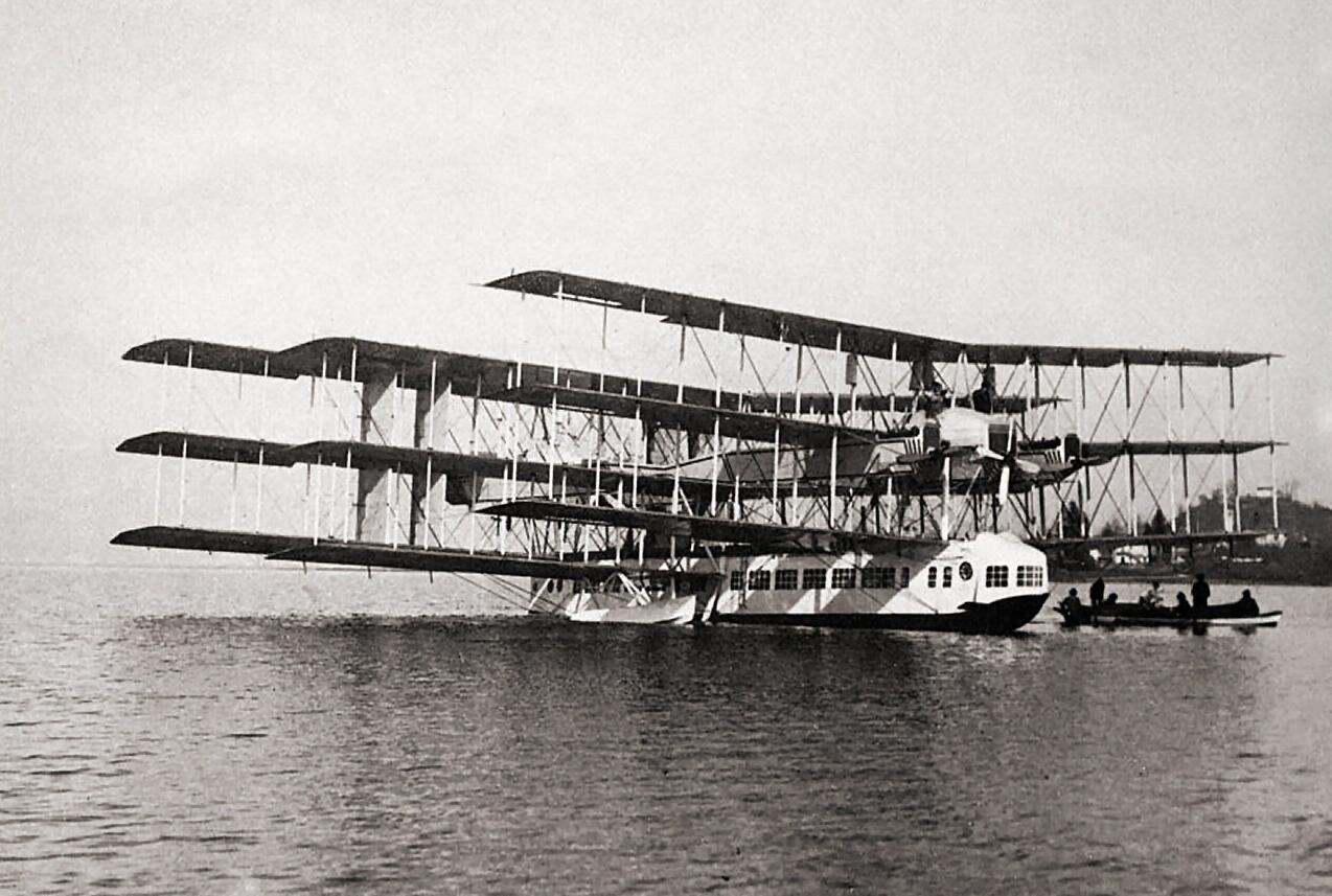 1919 Verona Caproni Ca.48 crash