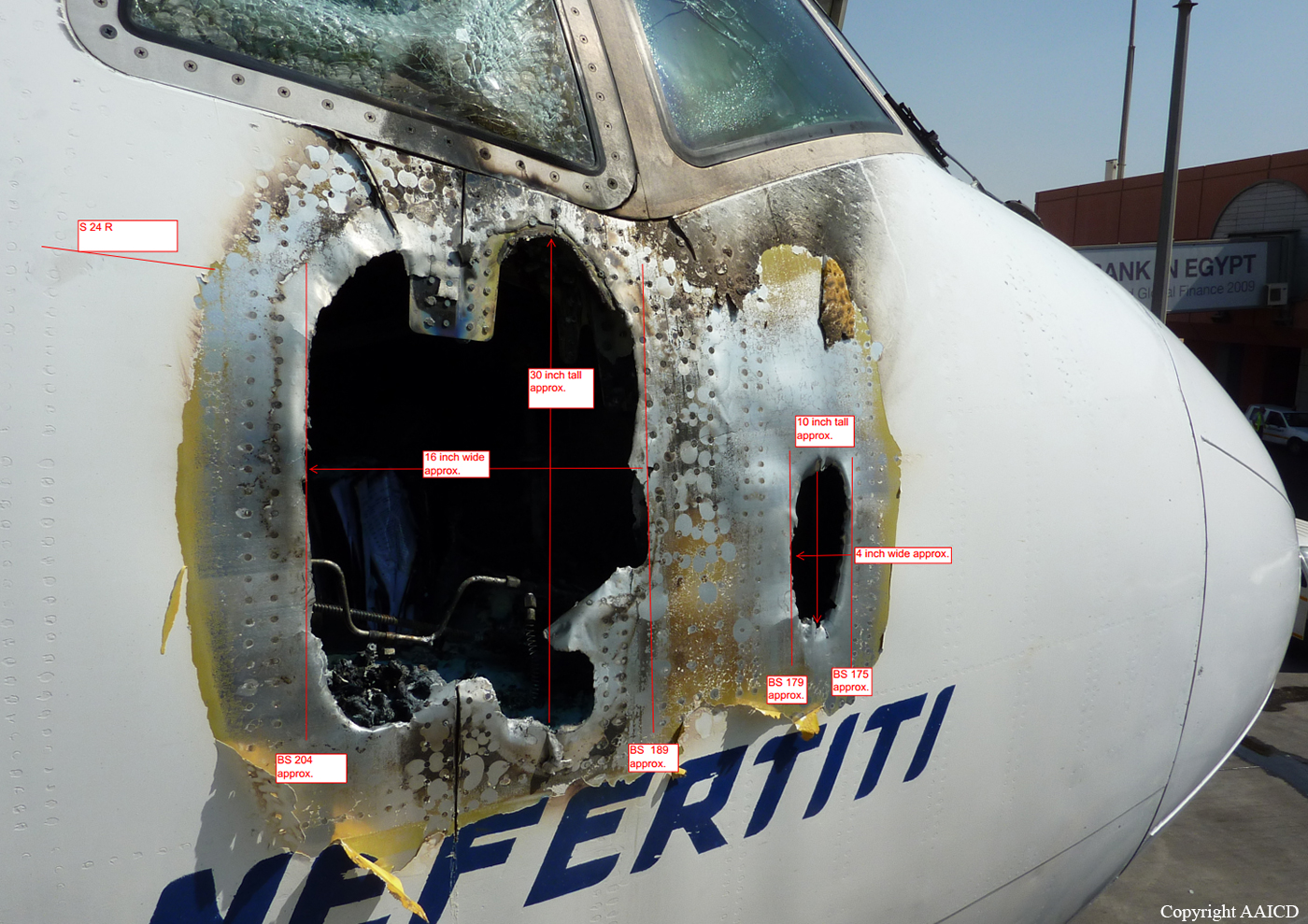Ground Fire Of A Boeing 777 266er In Cairo Bureau Of