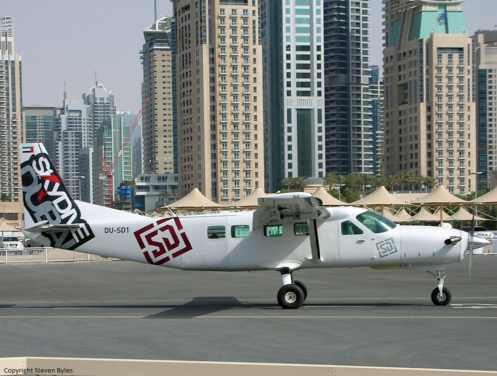 Crash of a Cessna 208B Grand Caravan in Dubai | Bureau of